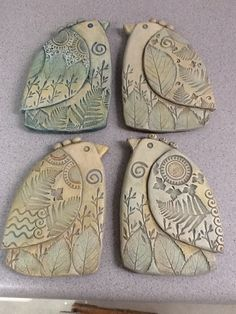My new clay birds! By Sue Davis of Davis Vachon gallery by nikki by rosalieYou can find Clay birds and more on our website.My new clay birds! Clay Birds, Ceramic Birds, Ceramic Clay, Clay Clay, Ceramics Projects, Clay Projects, Clay Crafts, Clay Angel, Polymer Clay Art