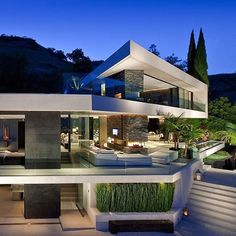 World of Architecture: Modern Hollywood Mansion; Openhouse by XTEN Architecture, California Architecture Design, Minimalist Architecture, Beautiful Architecture, Residential Architecture, Contemporary Architecture, Contemporary Houses, Organic Architecture, Contemporary Design, California Architecture