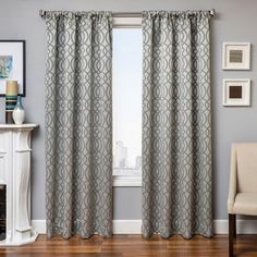 Excalibur Jacquard Fretwork Curtain Panel