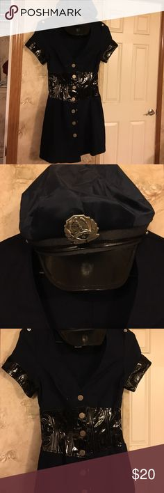 Dreamgirl cop costume size small Dreamgirl Halloween costume size small worn once only comes with hat and belt. I have boot cuffs with handcuffs on them I'll put with it. In good condition Dreamgirl Other