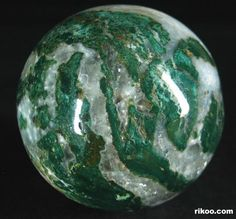 Green Zebra Jasper Crystal Ball