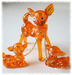 Little glass deer - I remember having several sets in different colours, they sat on a 3 tier shelf unit in my bedroom in Shelf unit moved with me now in my attic! Retro Toys, Vintage Toys, Retro Vintage, Vintage Style, Good Old Times, The Good Old Days, My Childhood Memories, Childhood Toys, Retro Interior Design