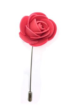 Lapel Pins - Coral Pink Flower