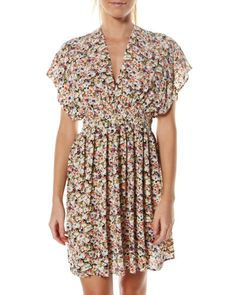 QUIKSILVER WOMENS BELLE ISLE DRESS - DITZY PRINT