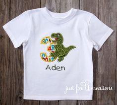 Boy Infant Toddler T-Rex Dinosaur Birthday Number T-Shirt Short Sleeve  | Clothing, Shoes & Accessories, Baby & Toddler Clothing, Boys' Clothing (Newborn-5T) | eBay!