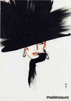 Рене Грюо - величайший иллюстратор французской моды