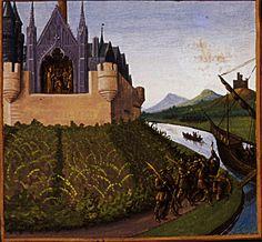 Jean Fouquet - Death of William Longsord -  Grandes Chroniques de France - 1460