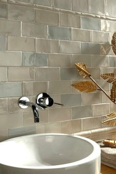Antique Plaqueta Craquel Wall Tiles - Recreate this shabby Chic Vintage wall display with Rustic Metro Tiles from Walls and Floors - http://www.wallsandfloors.co.uk/range/rustic-metro-tiles/