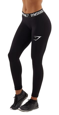 Gymshark Form Running Leggings - Black/White - Leggings - Womens
