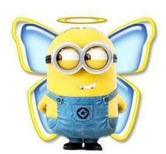 Such a sweet little Minion angel.. with a very mischievous smile!