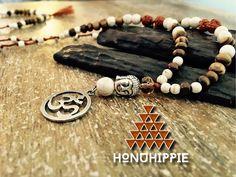 Buddah Om Mala necklace, boho yoga meditation jewelry by HonuHippie on Etsy https://www.etsy.com/listing/285672553/buddah-om-mala-necklace-boho-yoga