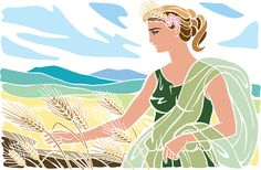 Demeter: Greek goddess of agriculture, the harvest and fertility of the earth. While taking a few courses on Greek mythology at the . Greek Gods And Goddesses, Greek Mythology, Roman Names, Son Of Zeus, Sacred Plant, Greek History, Simple Minds, Goddess Art, Rite Of Passage