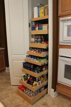 Upgraded Pantry! Solid maple pull outs #getorganized