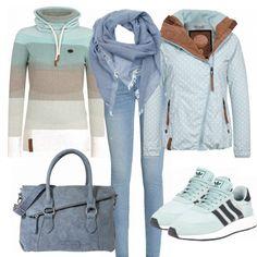 Winter-Outfits: Hellblau bei FrauenOutfits.de