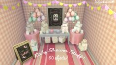 The Sims 4: Baby Shower Stuff! I don't know about you guys, but I have been DYING to have the option to through a baby shower in the Sims 4.…
