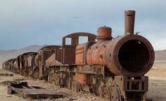 Train Cemetery. Uyuni, Bolivia