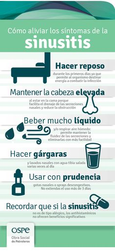 Cómo aliviar la #sinusitis #Prevencion #Infografia