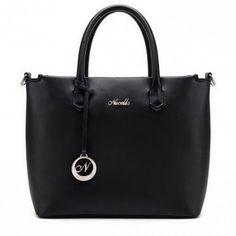 Klasycznie elegancki shopper Czarny