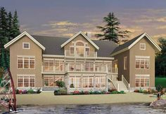 Craftsman House Plan with 9028 Square Feet and 7 Bedrooms from Dream Home Source | House Plan Code DHSW52846