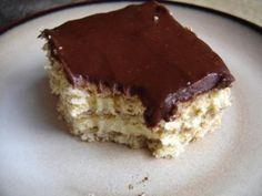 """Chocolate Eclair Dessert or known in my family as """"pudding stuff."""" seriously, this dessert is light and fluffy and delectable. try it and you won't be disappointed!!"""