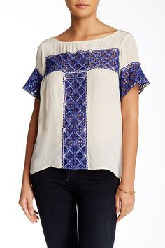 Cutwork Tee by plenty by TRACY REESE on @nordstrom_rack