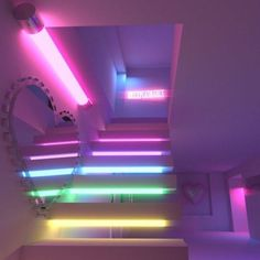 Neon lighting ideas are what will transform your room from an ordinary space into modern artistic enclave. To get you inspired, here are 10 ideas that will make your room trendy AF! Neon Bedroom, Room Ideas Bedroom, Neon Lights Bedroom, Bedroom Decor, Neon Aesthetic, Aesthetic Room Decor, Neon Lighting, Strip Lighting, Lighting Ideas