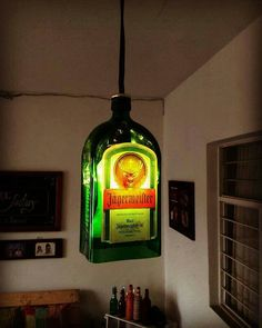 Bottle lamp jägermeister.