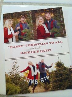 christmas cards save the dates | Christmas Card/save the date combo