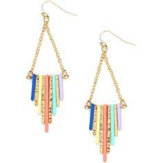 BaubleBar Pastel Buren Earrings ($24) ❤ liked on Polyvore