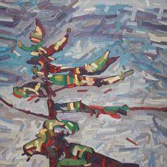"""David Grieve, Pine Portrait 8, 30"""" x 30"""", oil on canvas"""