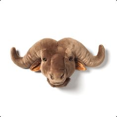 Wild & Soft - Trophy - Oscar - Water Buffalo Add some fun and wildlife in the kids room with these sweet, plush, trophy animal heads from Wild & Soft. Antler Wall Decor, Metal Wall Decor, Metal Wall Art, Water Buffalo, Mule Deer, Faux Taxidermy, Flower Wall Decor, Animal Heads, Decoration Design