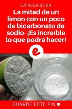 Bicarbonato y limon   La mitad de un limón con un poco de bicarbonato de sodio- ¡Es increíble lo que podrá hacer!   ¿Sabe lo que esta mezcla puede hacer? ¡Es sorprendente! Lea y sepa más sobre esto.