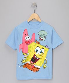 Take a look at this Sky Blue SpongeBob Tee - Kids  by Cartoon Classics: Boys' Apparel on #zulily today!
