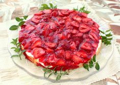 StrawberryTortenboden, german Strawberry Torte    Or I might try this version of a strawberry torte for my dinner guests.