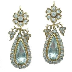 For Sale on - Such a Pair of Antique Rose cut Pearl Shape Diamond is almost unfindable. Rose cut Diamond weight: approximately carat each. Each Diamond's height Antique Earrings, Antique Jewelry, Vintage Jewelry, Diamond Flower, Diamond Cuts, Jewelry Gifts, Fine Jewelry, Handmade Jewelry, Jewelry Making