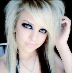 Emo Medium Hairstyles For Girls ~ http://wowhairstyle.com/medium-hairstyles-for-girls/