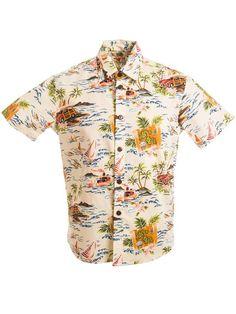 a19fef36 [Exclusive] Slim Fit Hawaiian Shirt [Vintage Surf / Beige] - Women's Hawaiian  Shirts - Hawaiian Shirts | AlohaOutlet SelectShop