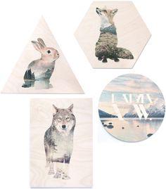 WhatWeDo Prints   Faunascapes tableau imprimés sur bois