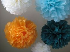 SALE 10 Tissue Pom Kit  Pick Your Colors  by prosttothehost, $30.00