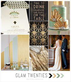 Mint + Gold + Black Art Deco Wedding Inspiration