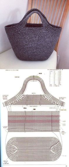 Eine Tasche The Effective Pictures We Offer You About lochmuster sitricken socken A quality picture Crochet Handbags, Crochet Purses, Crochet Hooks, Free Crochet, Knit Crochet, Crochet Braids, Knitting Patterns, Crochet Patterns, Purse Patterns