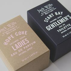 Jack Wills fragrance, design by sarah thorne