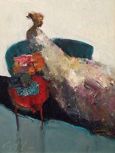 Danny McCaw, 'Arrangements', Oil on Board, 12x9 - Anne Irwin Fine Art