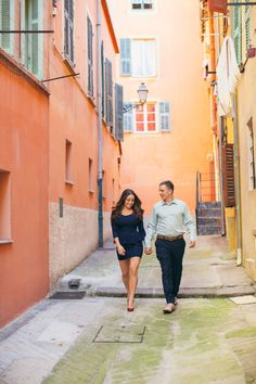 The alleyways: http://www.stylemepretty.com/little-black-book-blog/2014/10/06/sunlit-french-riviera-engagement-session/   Photography: Anna Roussos - http://www.annaroussos.com/