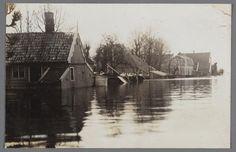 Broek in Waterland. Watersnood 1916.