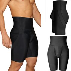 d9778ea88da Mens Separated Pouch Compressive Elastic Breathable Tummy Tuck Butt Lift  Shapewear Boxer Underwear is recommended by our customers