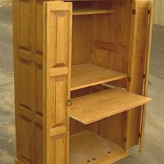 how to build a computer armoire