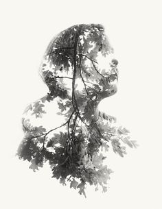 Double exposure portrait by Christoffer Relander (created in-camera with no Photoshop) Portraits En Double Exposition, Exposition Multiple, Exposition Photo, Photography Projects, Art Photography, Amazing Photography, Street Photography, Landscape Photography, Wedding Photography