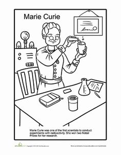 Marie Curie Coloring Page Women In History Marie Curie