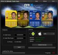 Bienvenue sur notre site. Si vous êtes à la recherche pour la FIFA 16 Ultimate Team Hack et de tricheet de vouloir obtenir des pièces illimités et les points de la FIFA. Avec l'outil de générateur va générer des pièces de monnaie et les points sont illimitées.